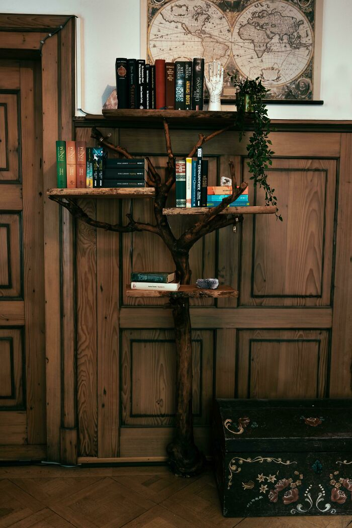My Parents Planted An Apple-Tree When I Was Born. Sadly, The Tree Died A Few Weeks Ago, So I Made A Bookshelf Out Of It