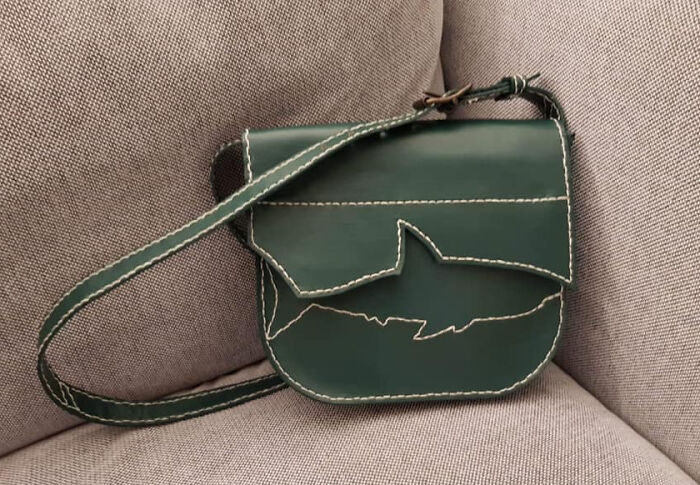 My First Attempt At Making A Leather Handbag. The Hand Stitching Took Forever!