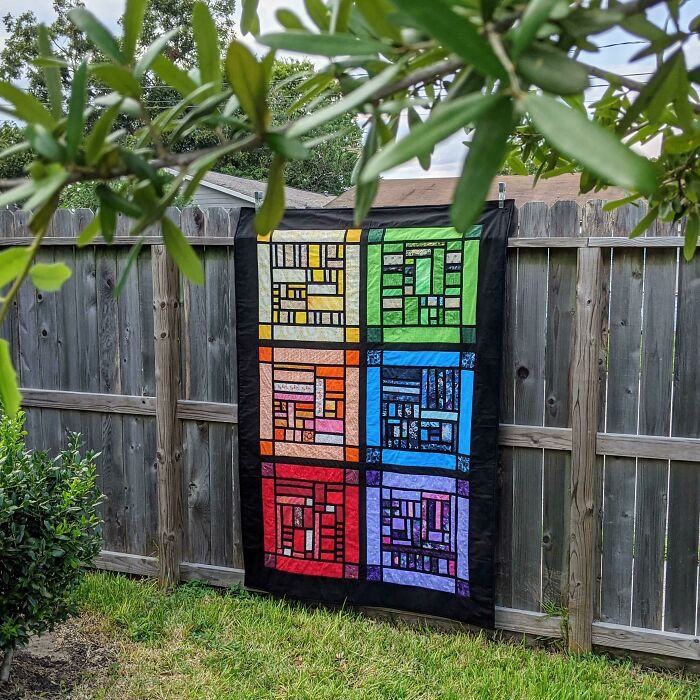 I Made A Stained Glass Quilt!