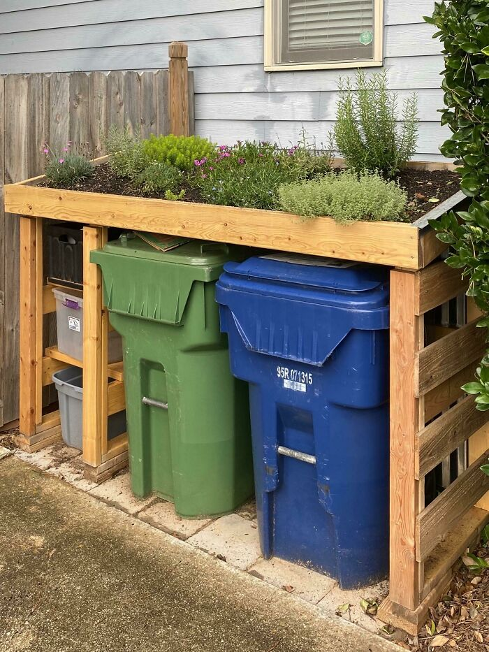 Trash Fort With Green Roof