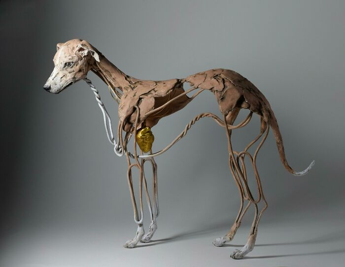 Wire And Clay Whippet I Just Finished - With A Heart Of Gold