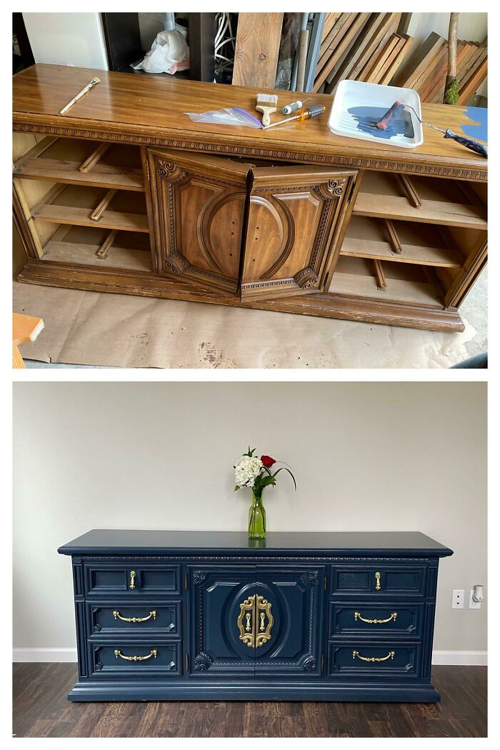 I Repainted A Cabinet (I Got For Free!) And Wanted To Share