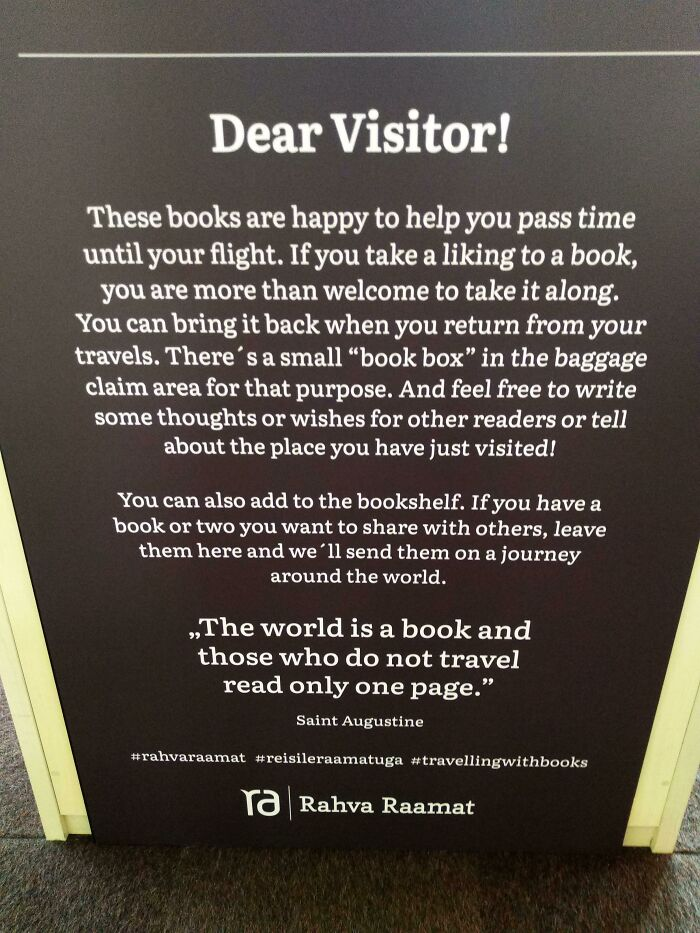 This Bookshelf In Tallinn Airport