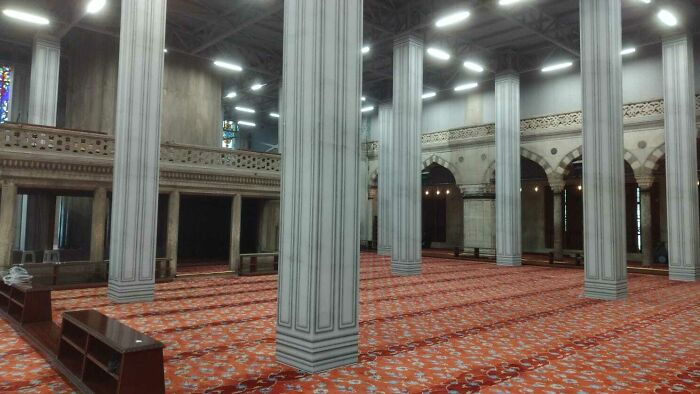 This Mosque In Istanbul Looks Like It Was Rendered On The Lowest Settings Possible
