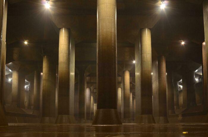 No es un render en 3D, es una cúpula que protege Tokyo de las inundaciones