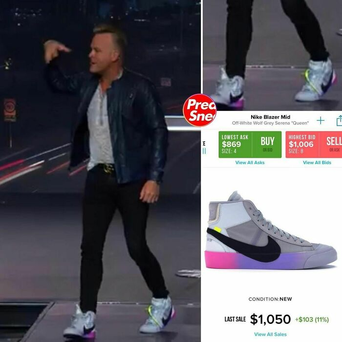 In Honor Of Serena Williams Crushing It In The Us Open Right Now, Here Is Pastor Crank In The Nike X Off White Blazer Serena. $1,050