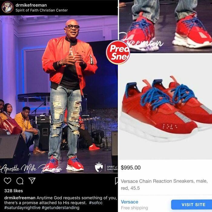 Preachers N Sneakers. Versace Sneakers, $995