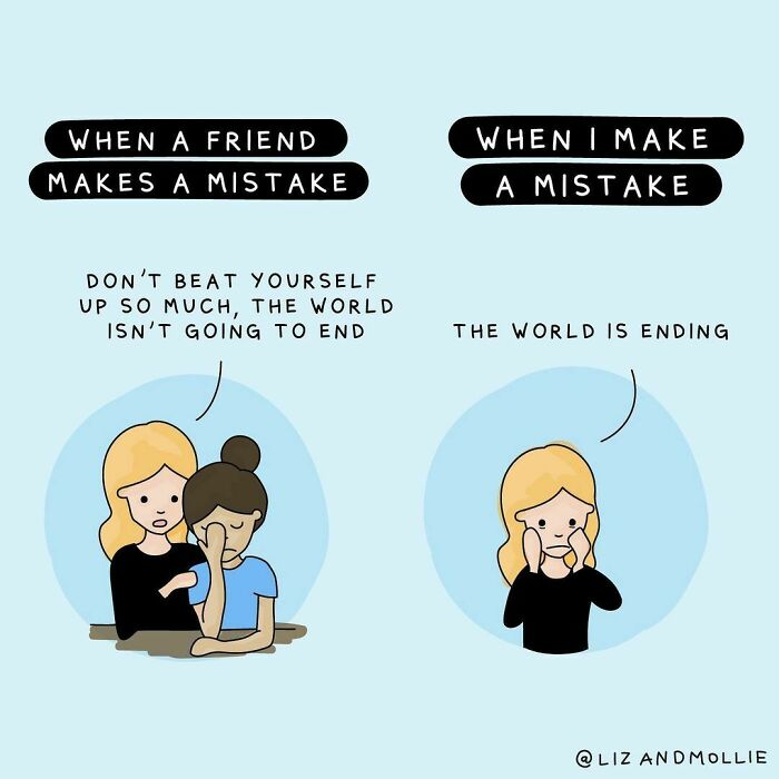 """The Advice To """"Be Kind"""" Also Applies To How You Treat Yourself! We're Often Harder On Ourselves Than We Are On Those Around Us, And We Tend To Compare Our Weaknesses To Other People's Strengths. So The Next Time You're Feeling Glum, Show Yourself Some Compassion"""