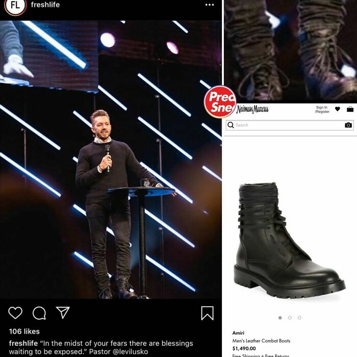 Preachers N Sneakers. Amiri Boots, $1,490