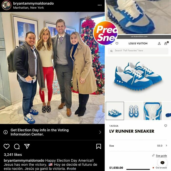 Prophet Bryan Maldonado Keepin That King Jesus International 501c3 Status Intact In The Royal Blue Lv Runners $1,020