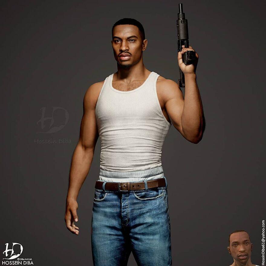 Carl Johnson From GTA: San Andreas