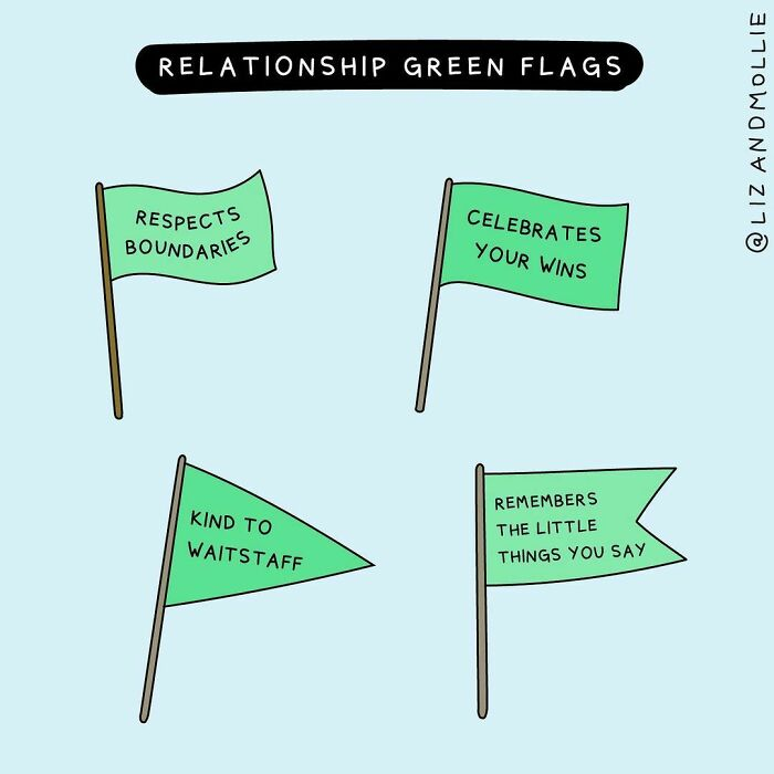 People Often Talk About Relationship (Platonic Or Romantic) Red Flags; What Are Your Relationship Green Flags?