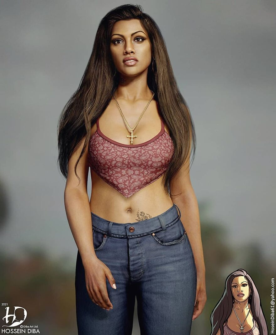 Cover Girl From GTA: San Andreas