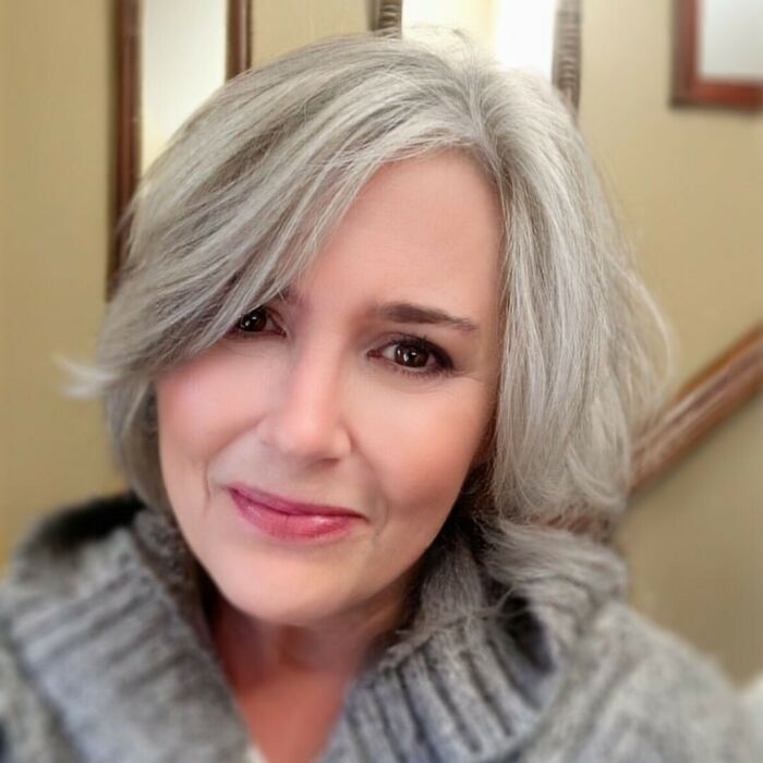 'white Hot Hair Products Keep My Silver From Looking Drab And Delivers Glossy Silver Strands. Love It! I've Been Using This For Years And Am Asked Often About The Products That I Use For My Shining Silver Hair...it's White Hot Hair!' Elizabeth, You And Your Silver Look Wonderful. We Love Having You In Our #silvertribe! #whitehothair #whitehotwomen #silversecrets #silverwomen #silversisters2021 #silverstyle #silverhaircare #insidertips #silverandfree #freethesilver #glossysilver #shiningsilver #silverfreedom #silverliberation #greyspiration #greyhairgoals #greyhairmovement #grayhairmovement #silverstyling