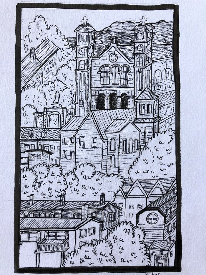 Drawing Of My Home Town
