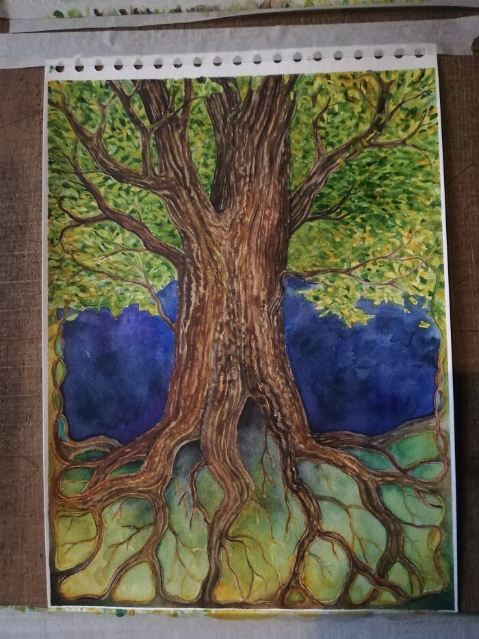 'every Tree Is The Tree Of Life' In Watercolour.