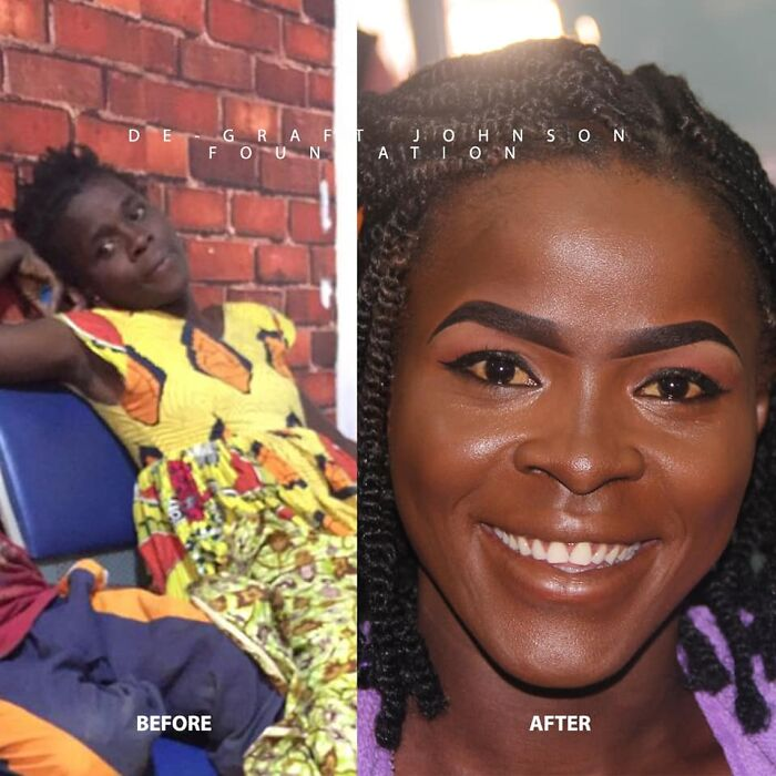 A Homeless Mom Of Two Undergoes An Amazing Transformation After Being Found On The Streets Of Ghana