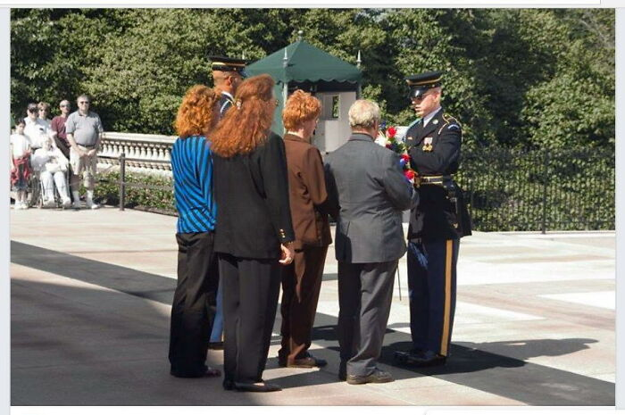 Transsexual Veterans At The Tomb Of The Unknown Soldier
