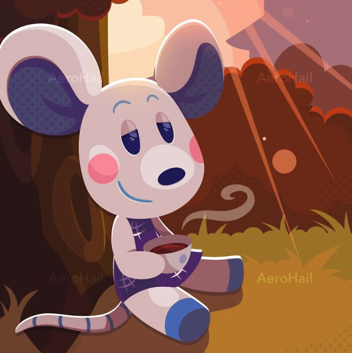 Commission Of Animal Crossing's Dora! Early Morning Tea!