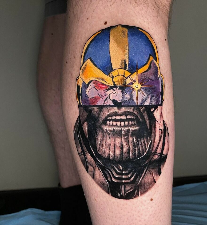 The French Tattoo Artist Produces Fantastic Tattoos In The Mixture Of 2 Styles