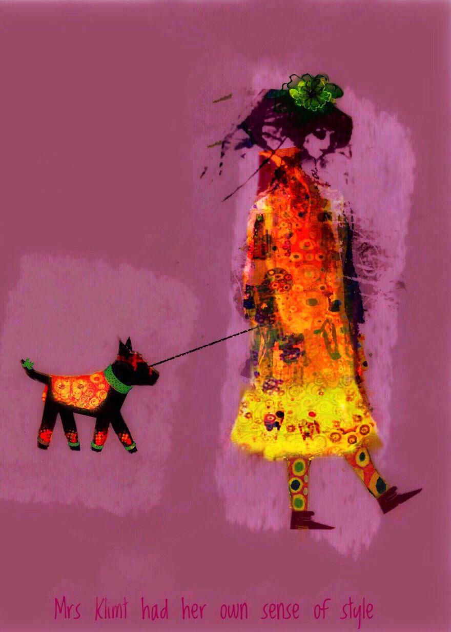 Visual Fx, 1st Place: Mrs. Klimt Had Her Own Sense Of Style By Jen Mckenzie