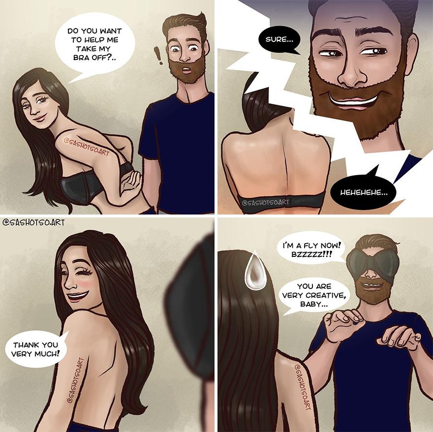 Funny-Comics-Everyday-Life-Relationships-Girl-Problems-Sasha-Tsoysashotso-Art