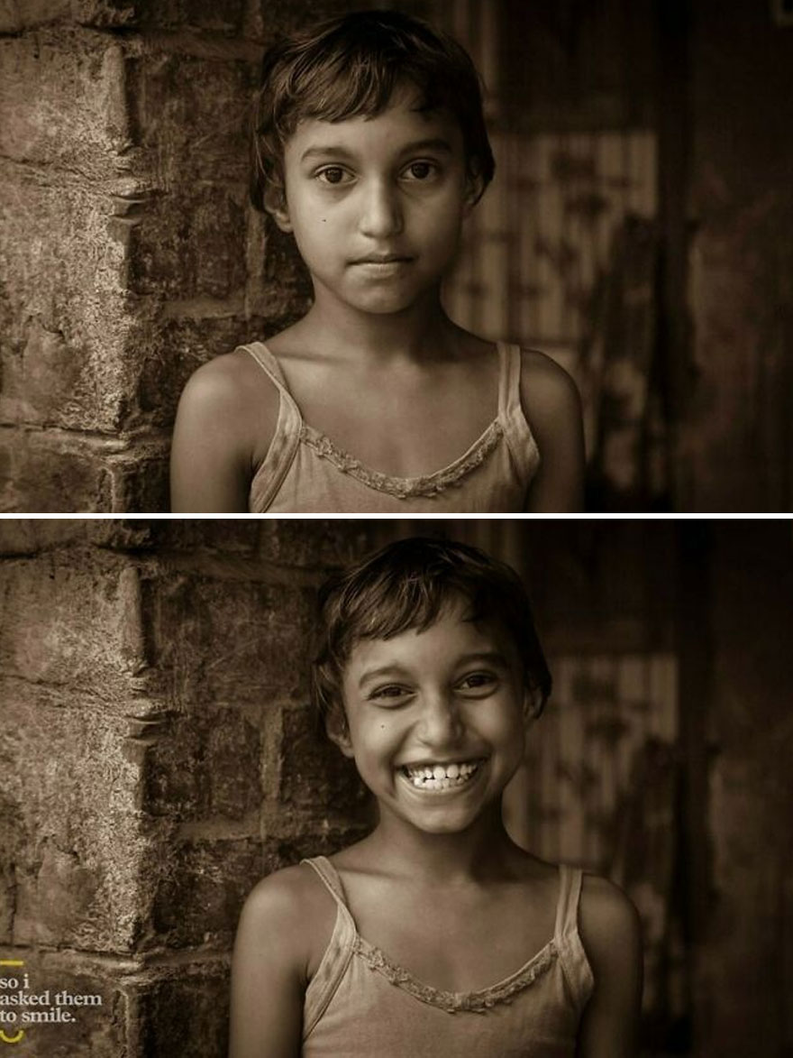 She Was With A Her Family, Outside Their Simple Home In The Village Of Gaudrum, One Rainy Afternoon In West Bengal, India... So I Asked Her To Smile