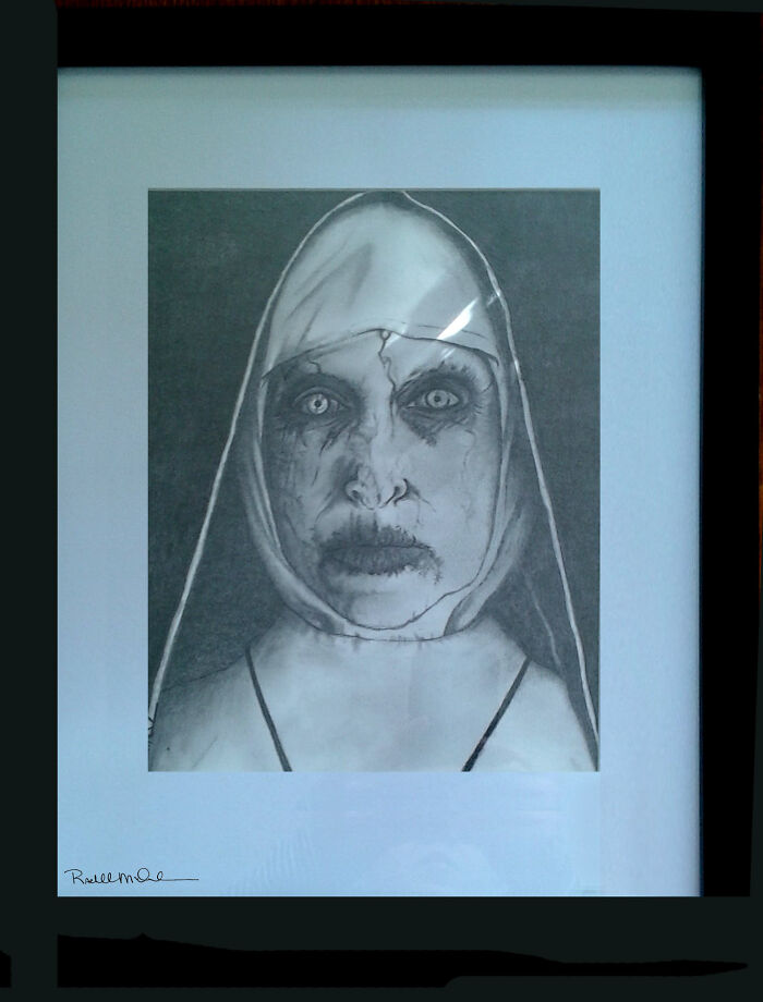 Valek - The Nun. Drawn For A Horror Movie Convention That Never Happened Because Of Covid. :(