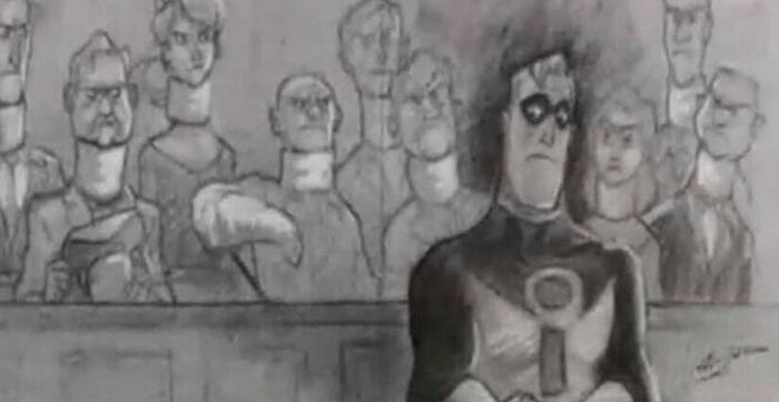 """In """"The Incredibles,"""" The Reason The Court Room Scene Is Drawn As Opposed To Animated Like The Rest Of The Movie Is Because It Is Illegal To Record In A Courtroom Without Proper Supervisions"""