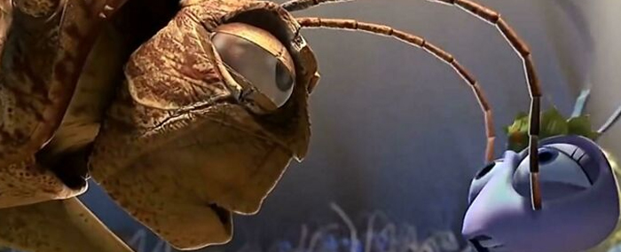 """In Pixar's 'A Bug's Life'(1997) The Grasshopper Leader Hopper Remarks That The Ant Princess Atta Don't """"Smell Like The Queen"""" While Moving His Antennas Across Her Face. That's Because It's How Insects Irl Actually Smell Since They Don't Have Noses"""
