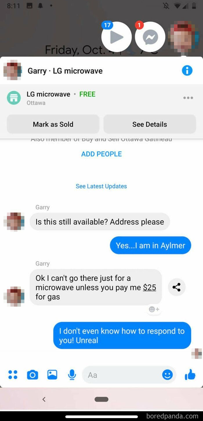 Yes Gary. I Will Pay You $25 To Pick Up An Item I'm Giving You That You Want For Free