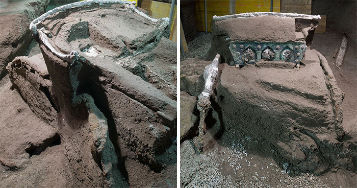A Perfectly Preserved Roman Ceremonial Carriage That Got Buried In A Volcanic Eruption 2000 Years Ago Gets Discovered By Archaeologists In Italy