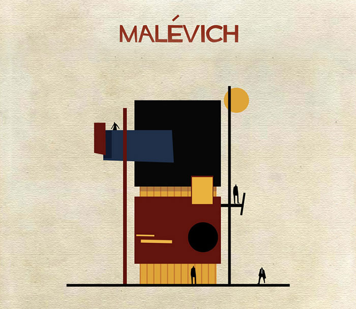 If 30 Iconic Artists Were Architects, As Imagined By Federico Babina