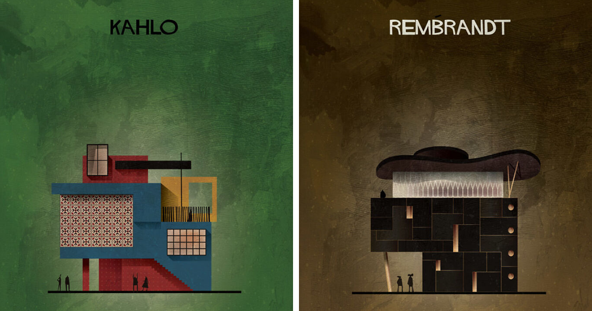 Architect Imagines How Architecture Inspired By Famous Artists' Works Would Look (57 Pics)