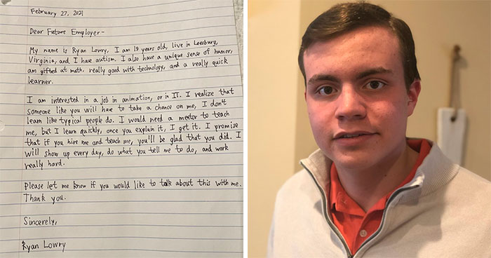 20 Y.O. With Autism Receives Thousands Of Comments And Job Offers After Posting A Wholesome Handwritten Cover Letter On LinkedIn