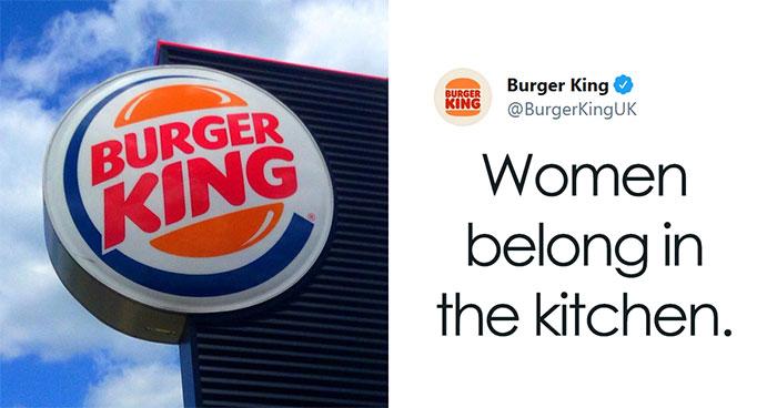 Burger King UK Tweets That 'Women Belong In The Kitchen' On International Women's Day