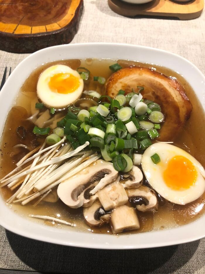 First From Scratch Ramen. Even The Soba Noodles Made By Myself.