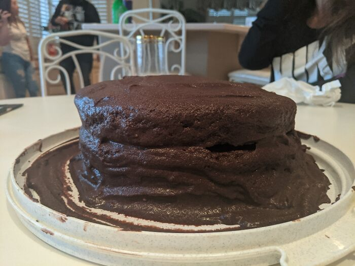 So I Tried To Make A From Scratch Cake And Frosting. It Came Out Ugly But Tasted Great!
