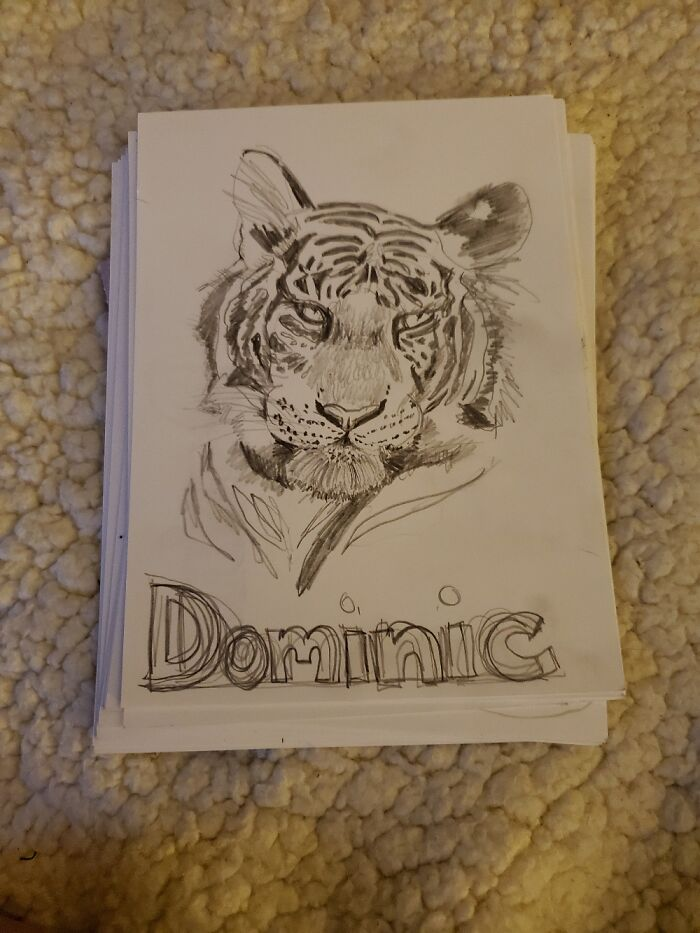 Every Year, I Draw All The 5th Graders, Their Favorite Animal & Their Name. 3rd Year. 80/Year.