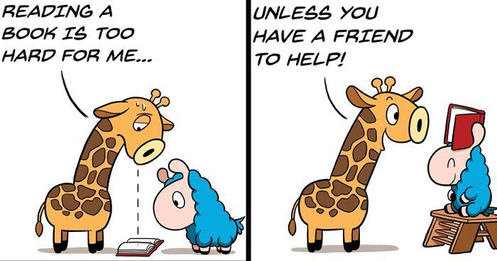 My Wholesome And Positive Comics About A Blue Llama, Loffy (62 New Pics)