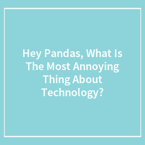 Hey Pandas, What Is The Most Annoying Thing About Technology?