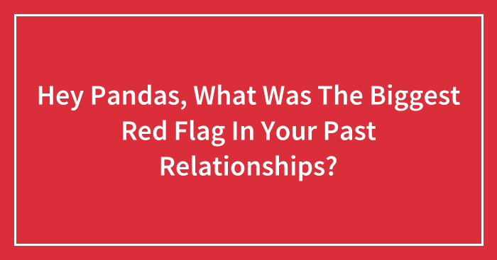 Hey Pandas, What Was The Biggest Red Flag In Your Past Relationships? (Closed)