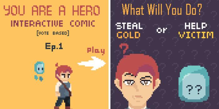 I Created An Interactive Comic Where You Are The Hero