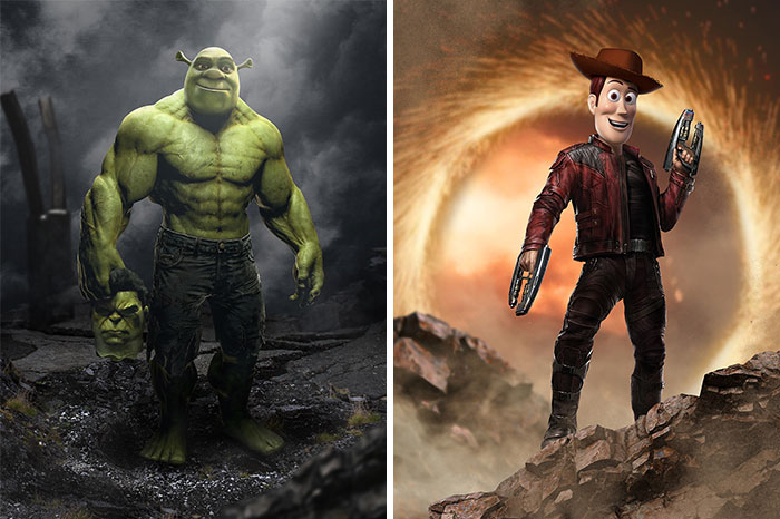 I Merge Two Characters That Have Something In Common Together (16 Pics)
