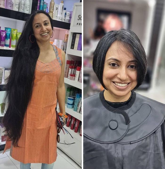 Todos quedaron estupefactos en el salón de belleza cuando ella cortó su largo y sano cabello. Por una buena causa, ella quería donarlo a aquellos que más lo necesitan
