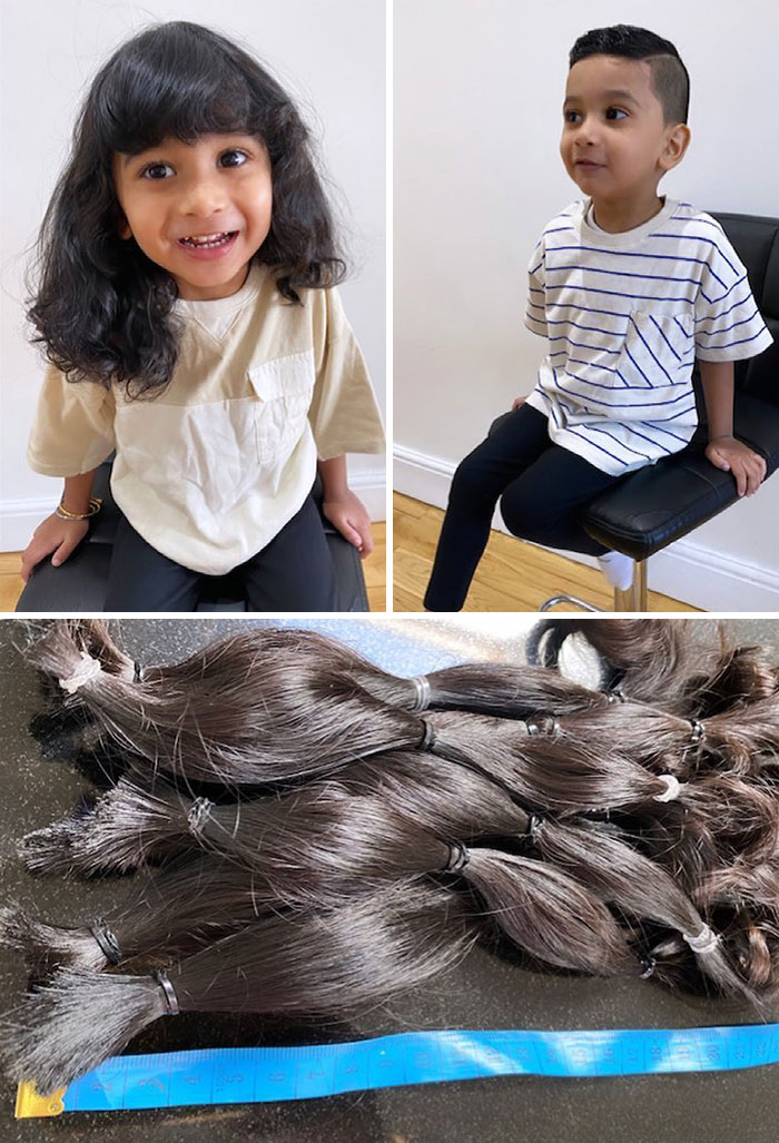 Este pequeño de dos años de edad donó su cabello rizado a la Fundación pequeña princesa (Little Princess Trust) porque sabe que otros niños lo necesitan más que él