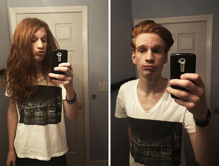 Finalmente junté valor para cortar mi pelo. Es la primera vez en tres años que lo he cortado y donado. ¿Qué opinan?