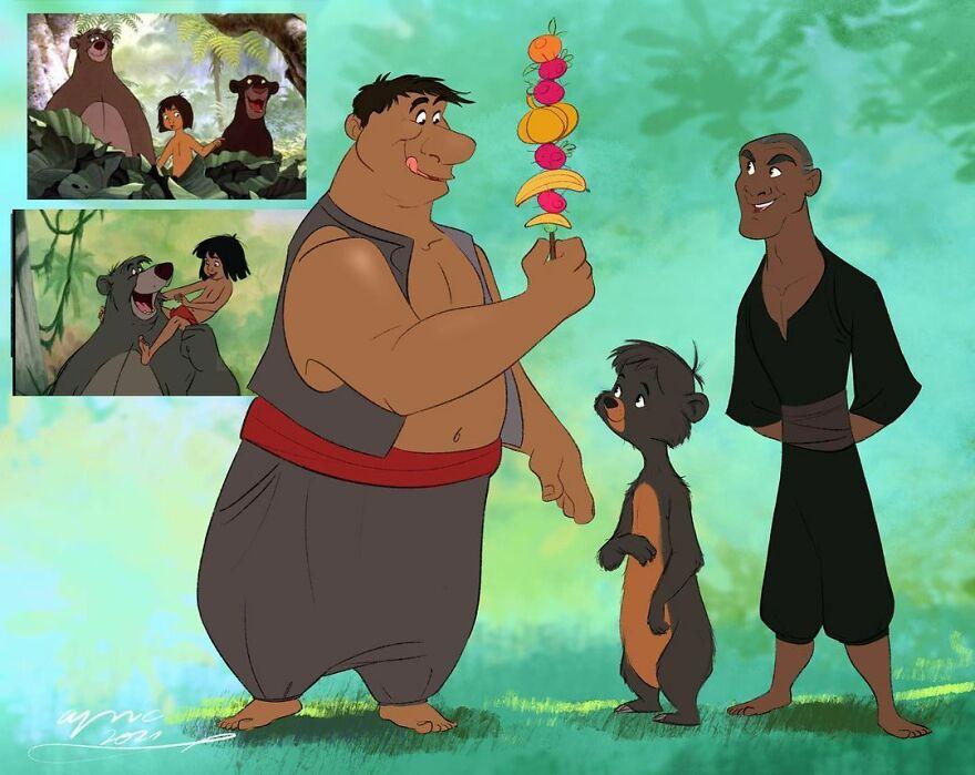 Balu, Bagheera & Mowgli