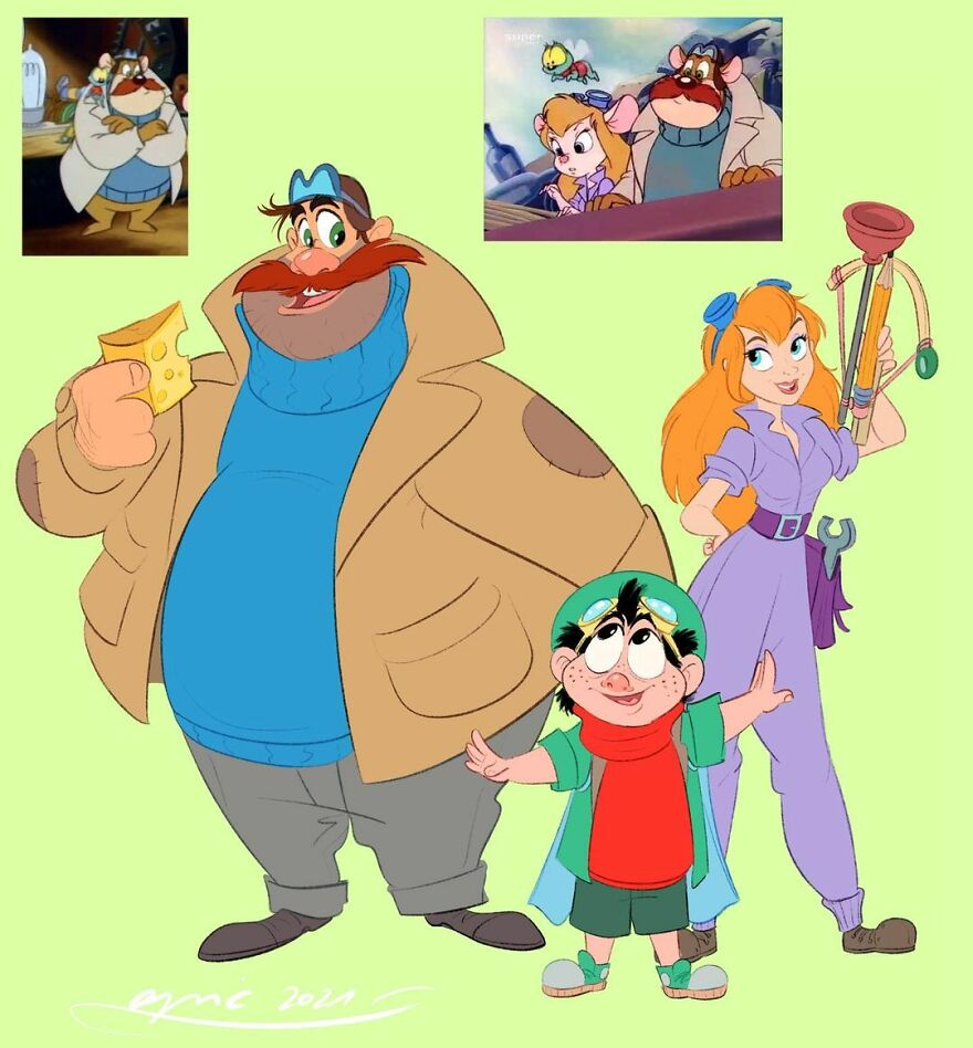 Monty And Zipper, Gadget, From Chip & Dale Rescue Rangers