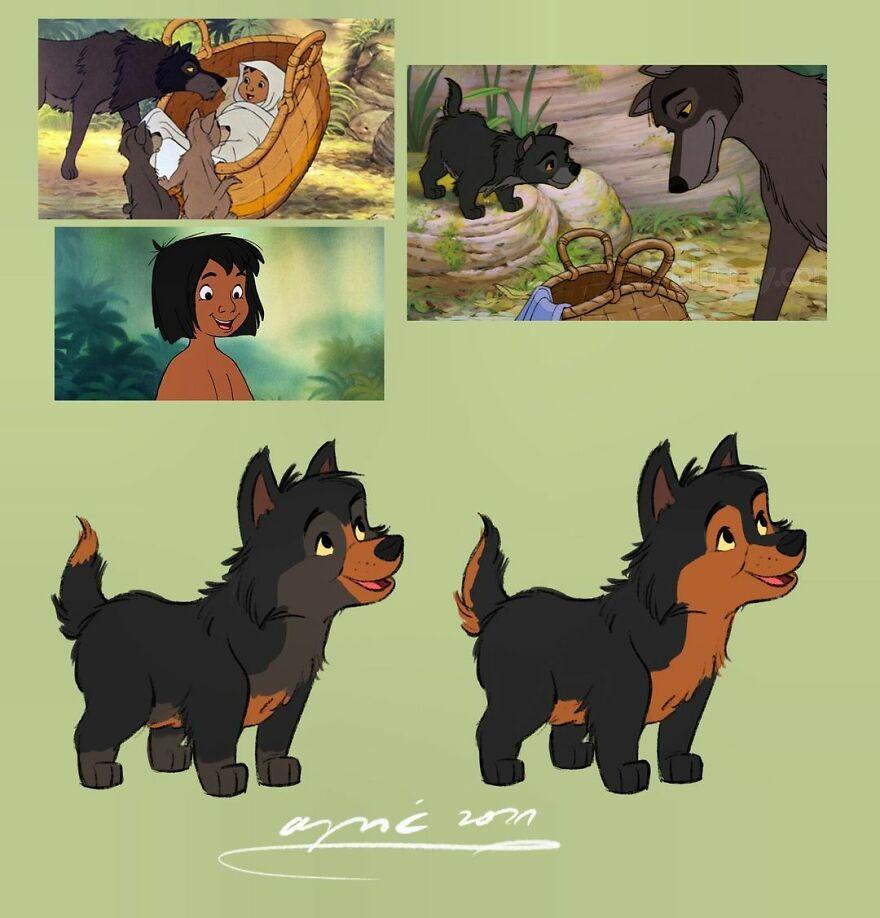 Mowgli As A Wolf